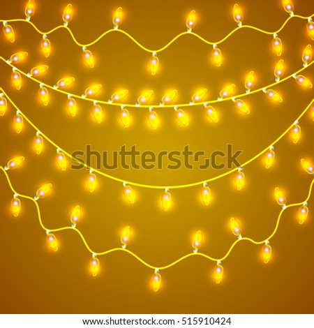 String Lights Hanging Light Bulbs Illustration Stock Vector 303305972 - Shutterstock