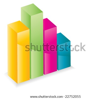 colorful graph - vector image