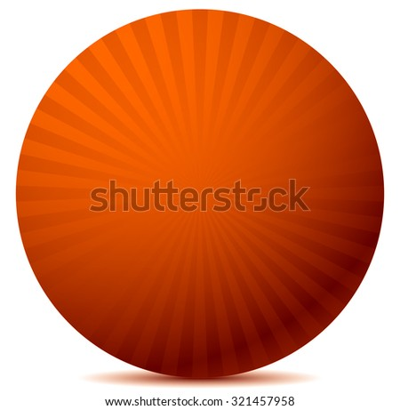 Colorful graphics with rays, beams with radial gradient. Vector. Red version.