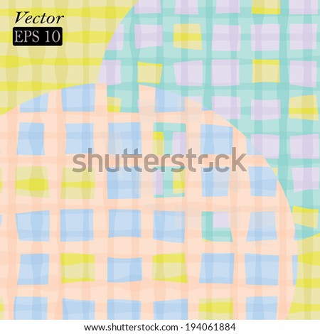 Colorful grid in vector format. Seamless pattern.