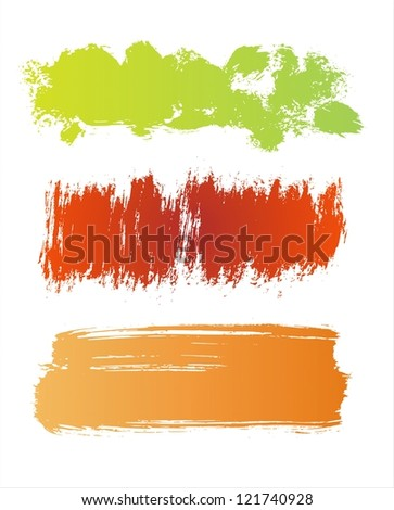 Colorful Grunge Banners - stock vector