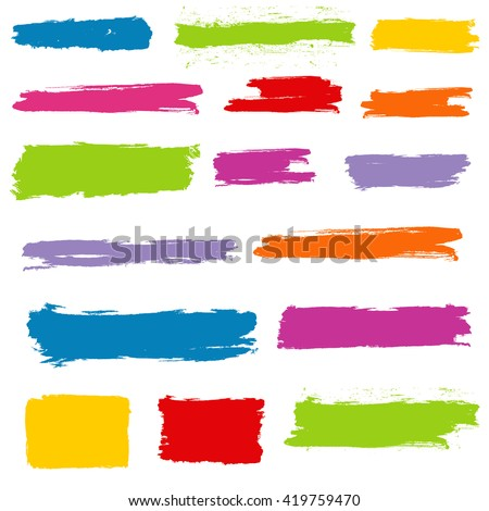 Colorful Grunge Banners. Grunge Vector Elements for design.