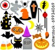 Colorful Halloween Festival Theme, Icons / Design Elements - stock vector
