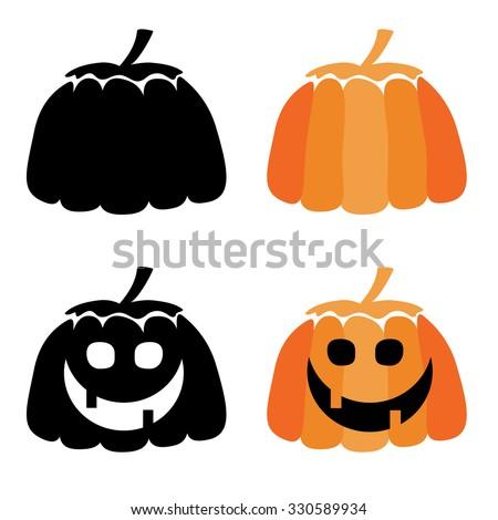 Colorful halloween pumpkin icon - stock vector