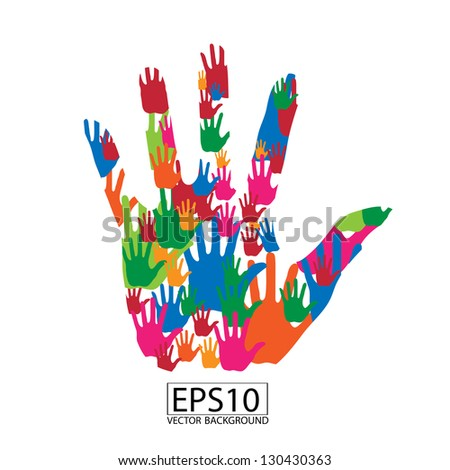colorful hand abstract vector background