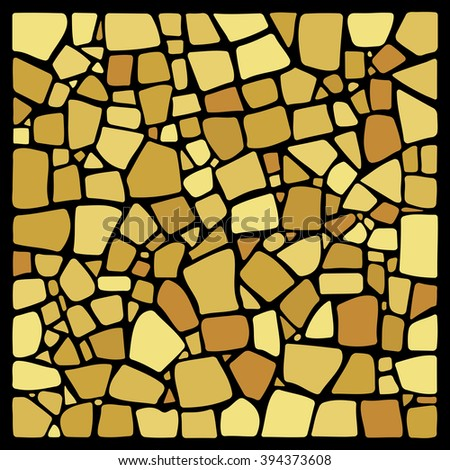 Colorful hand drawn background in mosaic tile style. NOT a PATTERN. Ceramic tile texture.