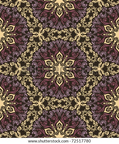 Colorful hand drawn seamless pattern in ethnic style - stock vector