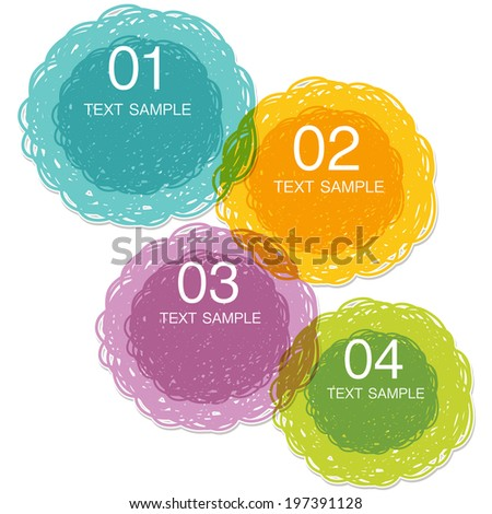 colorful hand drawn speech - stock vector