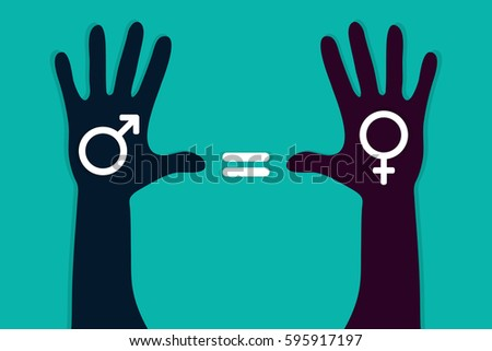 Inequality Symbols Red Gender Equality Stock ...
