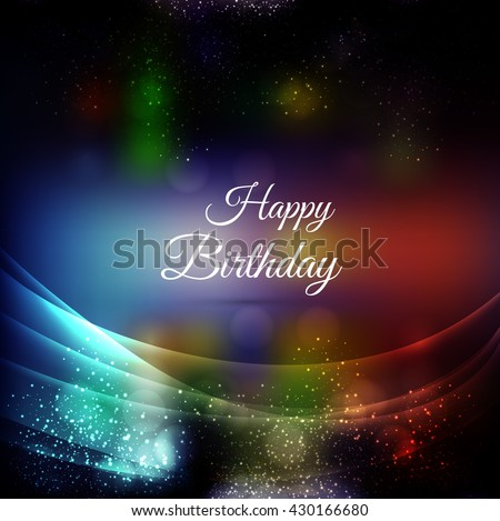 Colorful happy birthday background - stock vector