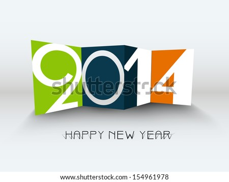 Colorful Happy New Year 2014 celebration background.  - stock vector
