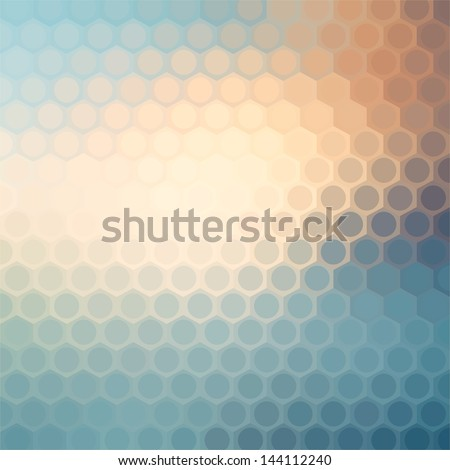 Colorful Hexagon Background - stock vector
