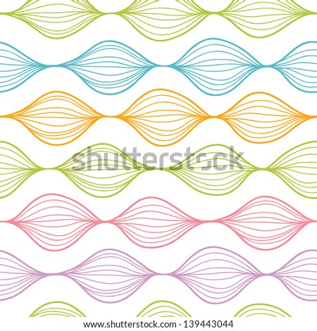 Colorful horizontal ogee seamless pattern background