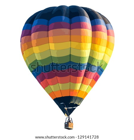 Colorful Hot air balloon isolated on white background. vector format - stock vector