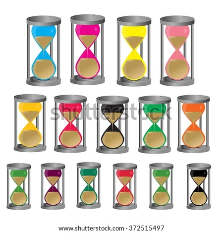 Colorful hourglass