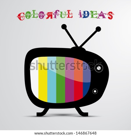 Colorful idea - stock vector