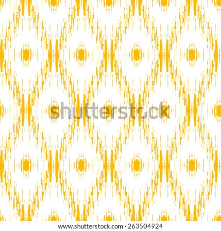 colorful ikat pattern - stock vector