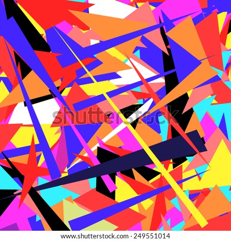 Colorful illustrated a abstraction the colorful background - stock vector