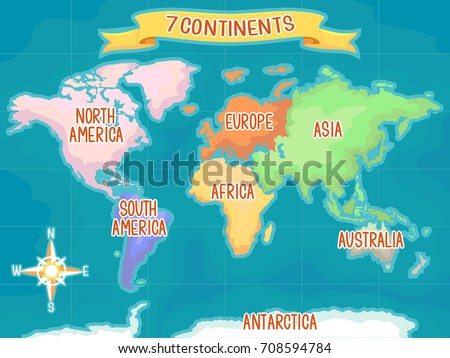 Continents Stock Images RoyaltyFree Images Vectors - Seven continents of the world