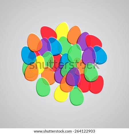 Colorful illustration for Easter, vector