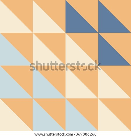 Colorful Illustration of Mosaic - Triangle and Square mosaic in brown and other colors - stock vector