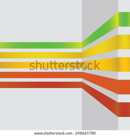 colorful illustration  with abstract line design banners on grey background - stock vector