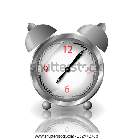 colorful illustration with alarm clock  for your design - stock vector