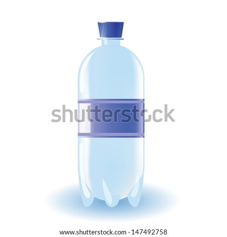 colorful illustration with bottle of water for your design - stock vector
