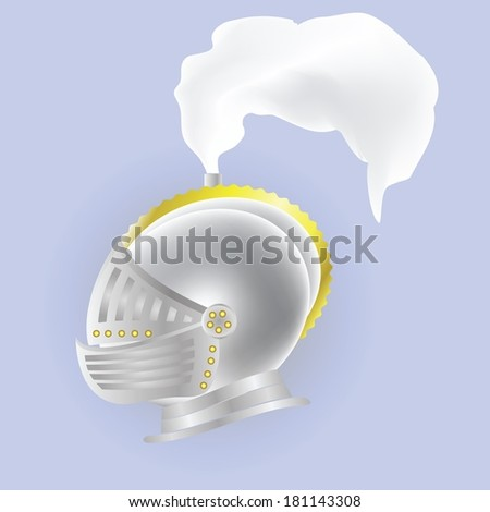 colorful illustration with knights  helmet for your design - stock vector