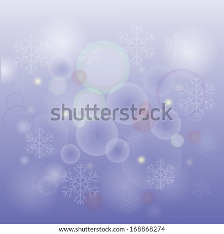colorful illustration with  snow  background for your design - stock vector