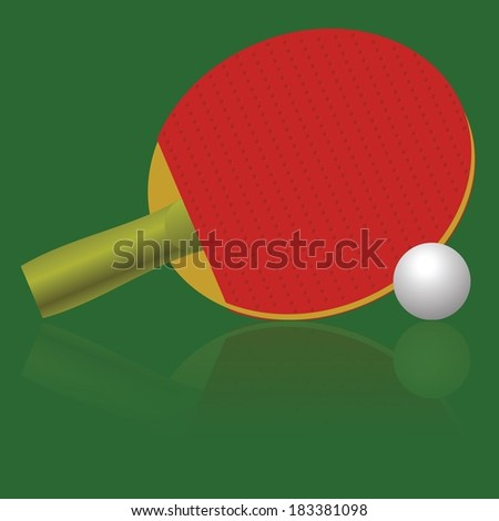 colorful illustration with table tennis racket and ball for your design