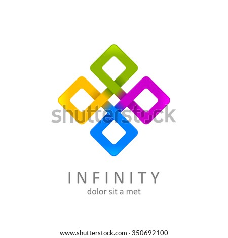 colorful infinity logo design template. limitless symbol or icon. isolated on white background. vector illustration