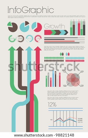 Colorful info graphic - stock vector