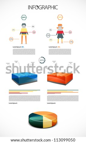 Colorful infographic illustration - stock vector