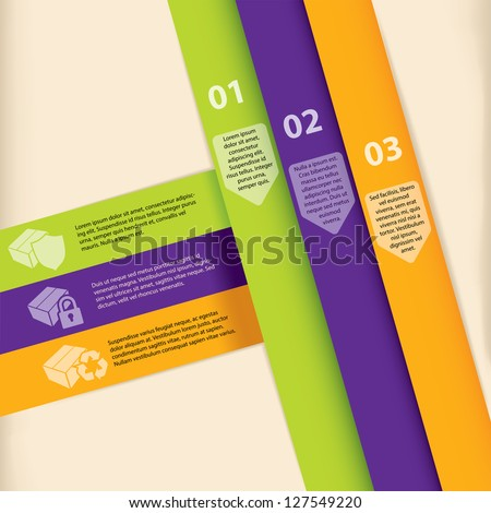 Colorful infographic template design with graphic elements