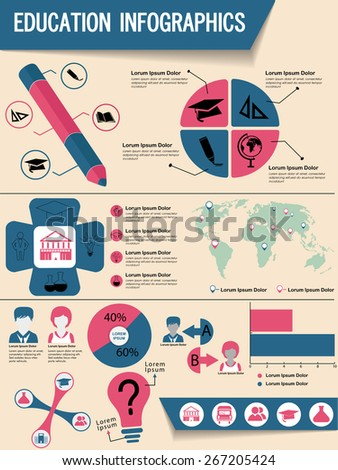 Colorful infographics elements set including growth pie chart, graphs and arrows for professional presentation. - stock vector