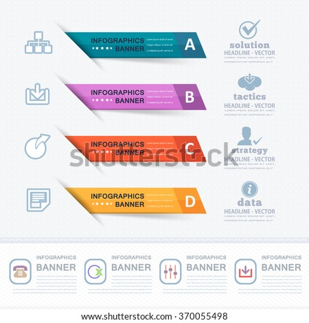 Colorful Infographics Elements, Website Numbers Banner Design - stock vector