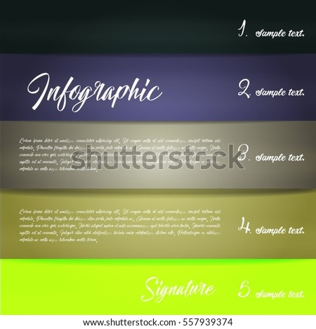Colorful infographics with stripes of different shades. Vector