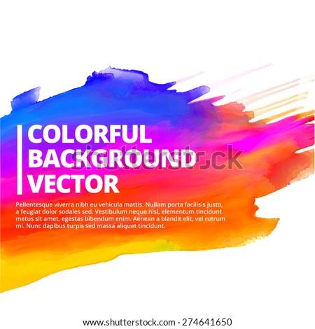 colorful ink splash background vector design illustration - stock vector