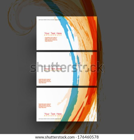 Colorful Ink Splatter Card Template Background
