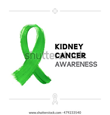 colorful kidney cancer awareness ribbon isolated stock vector