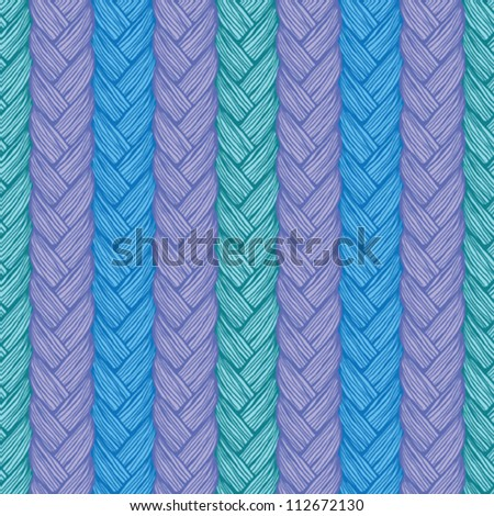 Colorful knitted pattern - stock vector