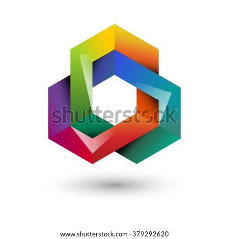 Colorful knot, eps10 vector - stock vector