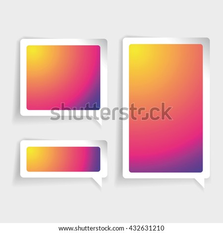 Colorful Label vector speech bubble - stock vector