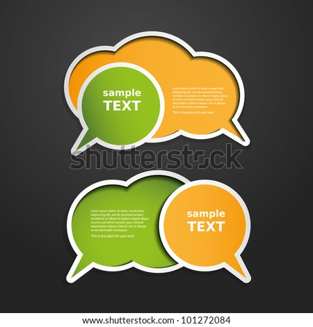 Colorful Labels, Tags, Speech Bubbles - stock vector