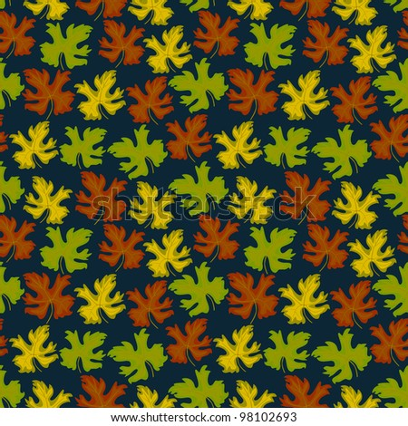 Colorful leafs - seamless pattern