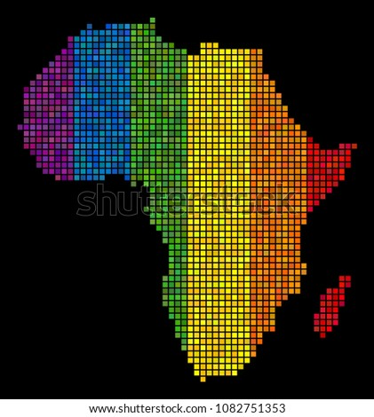 Colorful Lgbt Africa Map Lesbians Gays Stock Vector HD Royalty Free