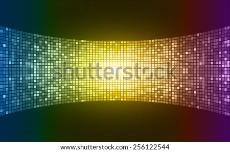 colorful Light Abstract Technology background for computer graphic website internet and business. text box. label. card. Table, Mosaic - stock vector