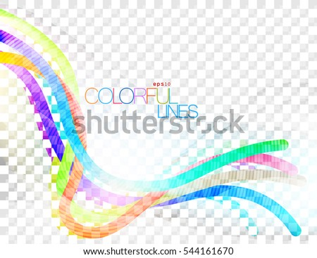 Colorful lines scene vector concepts abstract background