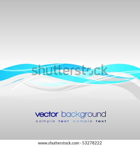 Colorful lines - vector abstract background with text